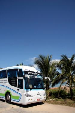 Tropical island Bus on sunny Koh Chang island